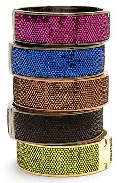 Betsey Johnson sparkle bangles -- cute as can be and 35% off!