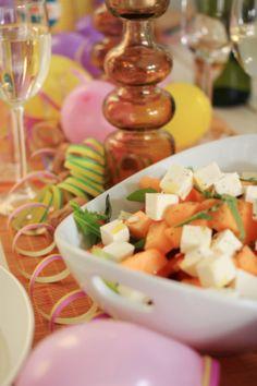 May day  -feta-melon salad