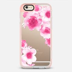 Love magenta flowers - Classic Snap Case, #pink #magenta #iphone, #artistic #flowers #watercolour #case, #casetify