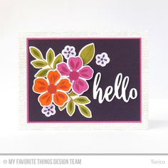 Flashy Florals Card Kit - Torico  #mftstamps