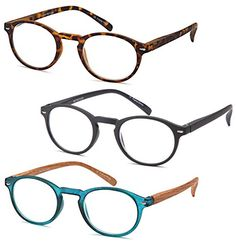ad05848de2c GAMMA RAY READERS 3 Pairs of The Instructor Round Unisex Spring Hinge  Readers Fit for Men