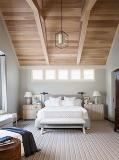 Beautiful ceiling and light. Also, night stands that don't match? This disturbs me and my need for symmetry. And yet...