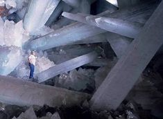 Giant Crystal Cave comes to light. Mexico's Cueva de los Cristales (Cave of Crystals) contains some of the world's largest known natural crystals—translucent beams of gypsum as long as 36 feet meters). Large Crystals, Natural Crystals, Selenite Crystals, Rocks And Gems, Rocks And Minerals, Natural Wonders, Natural World, In This World, At Least