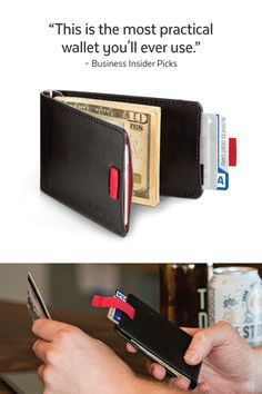 The most practical wallet you'll ever use, the Wally Bifold Wallet from Distil Union.