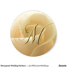 Shop Monogram Wedding Stickers - letter M created by PMCustomWeddings. Floral Wedding Stationery, Monogram Wedding, Gold Wedding, Wedding Stickers, Wedding Invitation Sets, Custom Photo, Custom Stickers, Activities For Kids, Scrapbook