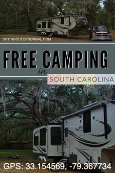 Free Camping in South Carolina, Camping Must Haves, Rv Camping Tips, Camping Spots, Great Places, Places To Go, East Coast Road Trip, Rv Travel, Travel Destinations, Amazing Life Hacks
