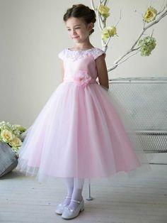 Gorgeous Satin And Tulle Communion Dress - 2016 Flower Girl Dresses