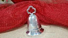 vintage silver plate KIRK STIEFF Wind Up Musical Bell Plays Silver Bells