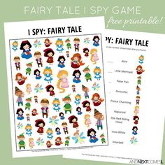 Fairy Tale Themed I Spy Game {Free Printable for Kids}