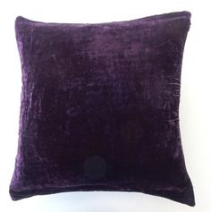 "DreamHome- Solid Velvet Decorative Pillow Cover 16""x 16""- Purple/Eggplant DreamHome http://www.amazon.com/dp/B00FTE0S5E/ref=cm_sw_r_pi_dp_Mlqcub02S74VM"