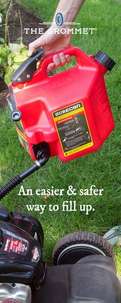 39380c59b7e90b Filling up is easier and safer with this no spill gas can. Fuel is dispensed