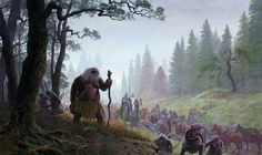 The Drúedain, also known as Drûgs, Drughu, Rógin, Woses, Wild Men of the Woods and Púkel-men, were a strange race of Men that lived in the Drúadan Forest by the Third Age. They were counted amongst the Edain.