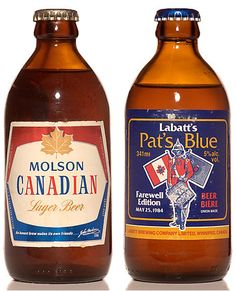 Vintage Packaging – Stubby Beer Bottles Canadian Beer, Canadian Things, I Am Canadian, Canadian History, Beers Of The World, Lager Beer, Commercial Ads, Vintage Packaging, Canada Day