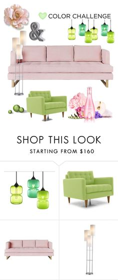 """Home Sweet Home"" by majalina123 on Polyvore featuring interior, interiors, interior design, Zuhause, home decor, interior decorating, Joybird, Gus* Modern, colorchallenge und greenandblush"