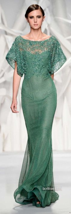Abed Mahfouz Fall Winter 2014 Haute Couture Collection is filled with designs that are body slimming, sheer and focus on a well toned figure. Crazy Dresses, Gala Dresses, Wedding Dresses, Abed Mahfouz, Gowns Of Elegance, Elegant Outfit, Mode Inspiration, Wedding Inspiration, Wedding Ideas