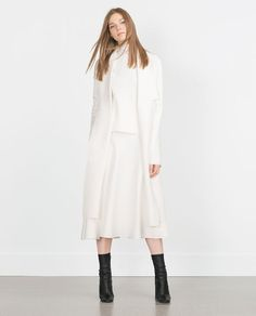 Image 1 of LONG COAT WITH DRAPED NECK from Zara