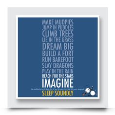 Create Your Own Story, Build A Fort, Contemporary Art Prints, Reaching For The Stars, Popular Quotes, Baby Boy Rooms, Box Frames, Design Quotes, Dream Big
