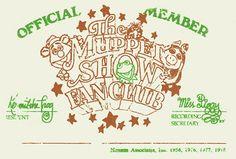 muppet show fan club card