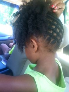 This is pretty - http://www.blackhairinformation.com/community/hairstyle-gallery/kids-hairstyles/pretty-7/ #kidshair #updo #cornrows