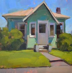"Daily Paintworks - ""Little House"" - Original Fine Art for Sale - © Carol Marine"