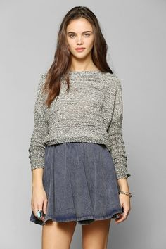 Staring At Stars Slubby Marled Cropped Sweater from Urban Outfitters on shop.CatalogSpree.com, your personal digital mall.