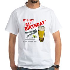 21st Birthday GPS T-Shirt