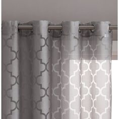 ME Lattice Burnout Geometric Sheer Voile Grommet Window Curtain Panels for Privacy & Natural Sunlight - Pair, Gray Sheer Curtains Bedroom, Large Curtains, Drapes And Blinds, Home Curtains, Grey Curtains, Modern Curtains, Colorful Curtains, Grommet Curtains, Window Curtains