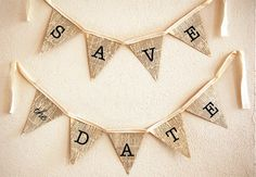 date bunting: save the date