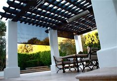 Outdoor patio drop curtains Awning Canopy, Retractable Awning, Blinds, Pergola, Outdoor Structures, Patio, Curtains, Canopies, American