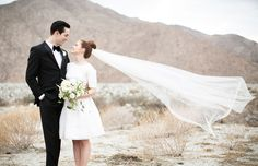Mid-Century Modern Wedding Inspiration from Palm Springs | Green Wedding Shoes Wedding Blog | Wedding Trends for Stylish + Creative Brides