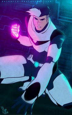 Shiro ready to fight from Voltron Legendary Defender