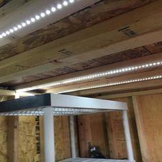 Inexpensive Garage Lights From LED Strips: 6 Steps (with Pictures) Led Garage Lights, Garage Lighting, Backyard Lighting, Strip Lighting, Lighting Ideas, Workshop Layout, Garage Workshop, Outdoor Kitchen Patio, Diy Garage