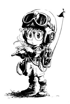 Arale ready to fight