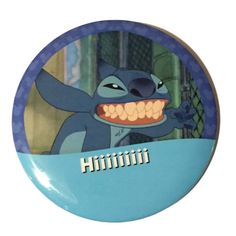 Show off your Disneyside with this button featuring everyones favorite alien, Stitch!    3 inch round pinback button.