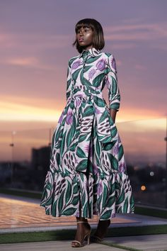 African Print Shirt, African Print Fashion, African Fashion Dresses, Fashion Prints, Love Fashion, African Prints, African Wear, African Dress, African Clothes