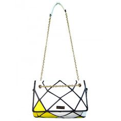Bolsa Feminina Amarela Ref D1136#