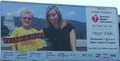 Reporter Darrah Wilcox on a billboard for the 2013 American Heart Association Walk, happening in Charleston on Sept. 7. WCHS & WVAH-TV is a proud sponsor of the event.