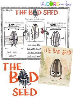 October Interactive Read-Alouds 2018 - The Bad Seed Interactive Read-Aloud- Response to text activities and text dependent questions - Primary School Counselling, Elementary Counseling, School Counseling, Elementary Schools, First Week Activities, Reading Activities, Interactive Activities, Literacy Activities, Social Emotional Development