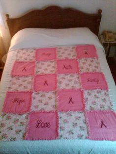 Breast cancer rag quilt