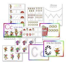 C is for Clown Preschool Printable Pack