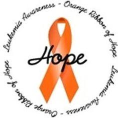 Luekemia Awareness - Orange Ribbon of Hope.