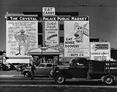 john gutmann, san francisco 1939: pop advertising