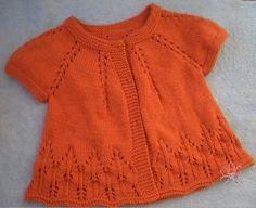 Жакетик детский вязаный спицами. Красивый жакет для девочки вязаный спицами. | Вязание для всей семьи