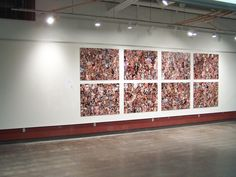a  exhibition i worked on with some friends called FaceValue. it is a collage of thousands of faces cut out of magazines.