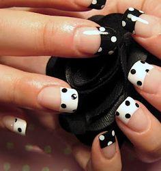 Polka dot tips :) LOVE THESE!!