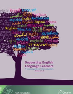 UNDERSTANDING- Supporting English Lanaguage Learners - A practical guide for Ontario educators Grades 1 to 8 This document clearly outlines a strategies, activities, and best practices that should be present in classrooms with English language learners. Ell Students, Ministry Of Education, English Reading, English Language Learners, Literacy Skills, Language Development, Ways To Communicate, Teaching English, Learn English