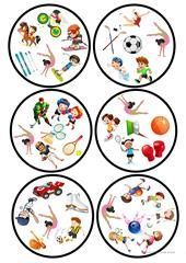 Sports Dobble game worksheet - Free ESL printable worksheets made by teachers Preschool Games, Math Games, Teaching Nouns, Sport English, Double Game, Theme Sport, English Activities, Sports Games, English Lessons