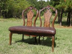 bench made from old chair backs