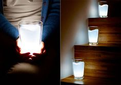 Lamp inspired by milk