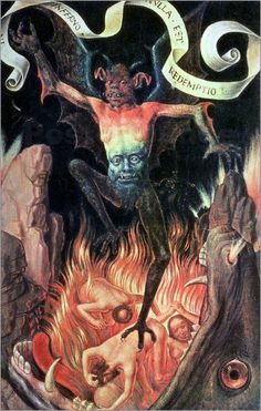 Hans Memling, Hell, 1485 from Triptych of Earthly Vanity and Divine Salvation (front) Oil on oak panel, 22 x 15 cm (each wing), Musée des Beaux-Arts de Strasbourg Scary Paintings, Hans Memling, Art Noir, The Crow, Renaissance Kunst, Renaissance Paintings, Angels And Demons, Medieval Art, Religious Art